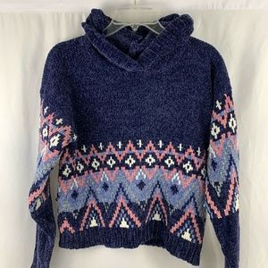 Justice Chenille Hoodie Sweater Girls Size 18/20